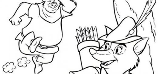 Robin Hood zum ausmalen 11