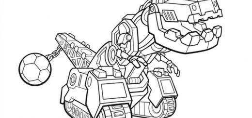Dinotrux zum ausmalen. Bild 1