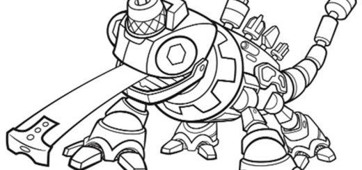 Dinotrux zum ausmalen. Bild 3