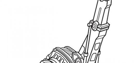 Dinotrux zum ausmalen. Bild 4