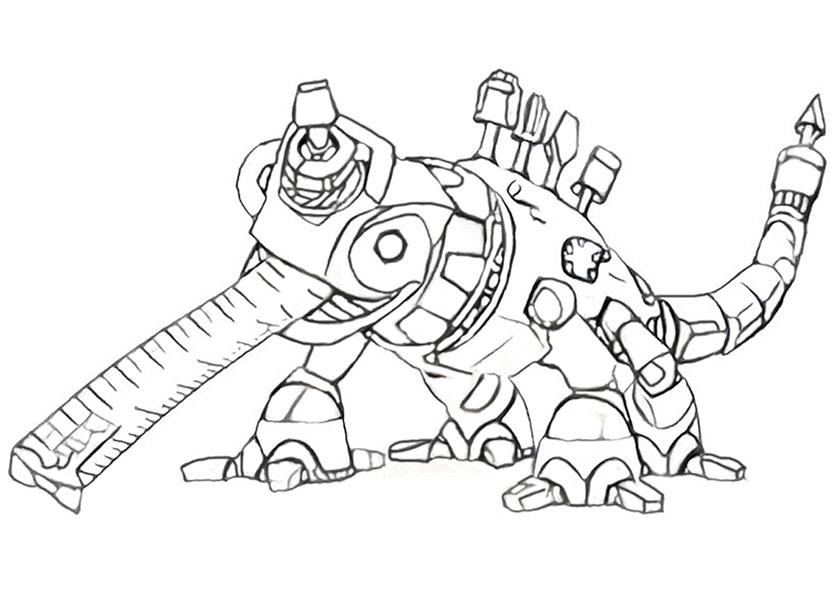 Dinotrux zum ausmalen. Bild 5