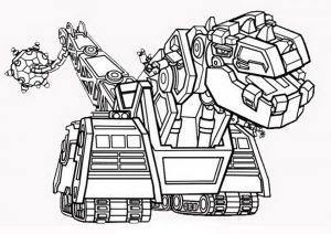 Dinotrux zum ausmalen. Bild 6