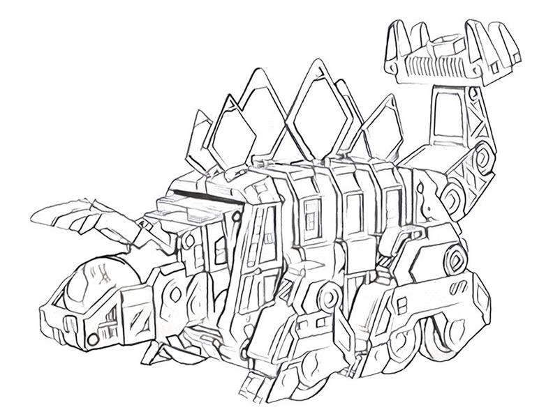 Dinotrux zum ausmalen. Bild 9