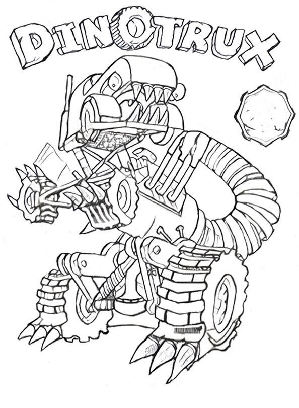 Dinotrux zum ausmalen 12