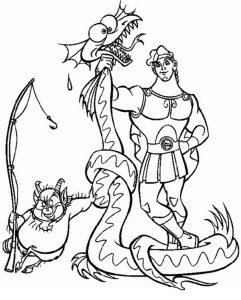 Ausmalbilder Hercules Disney 7