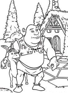 Ausmalbilder Shrek Disney, 11
