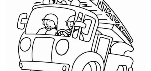 Ausmalen Feuerwehrwagen 3