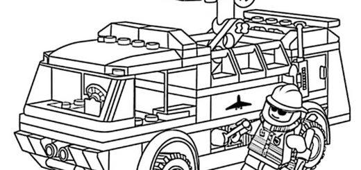 Ausmalen Feuerwehrwagen Playmobil 4