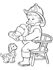 Ausmalen Feuerwehr 6