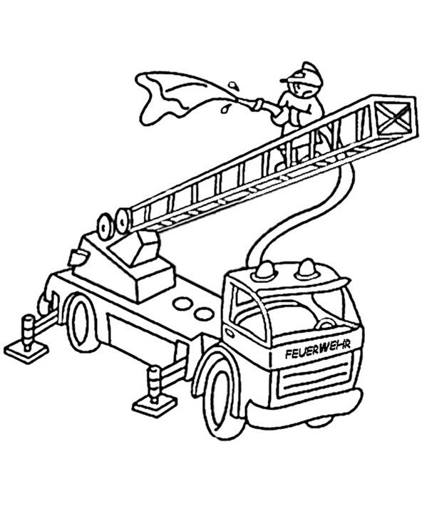 Ausmalbilder Feuerwehrauto 7
