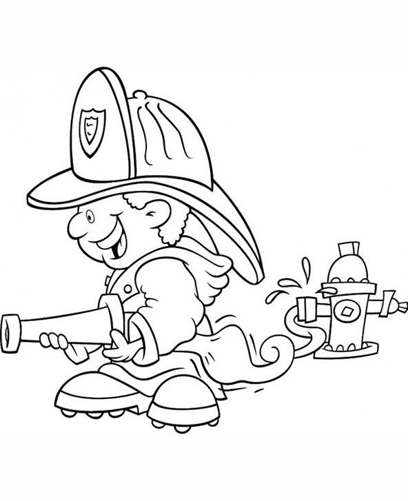 Ausmalbilder Feuerwehr 8
