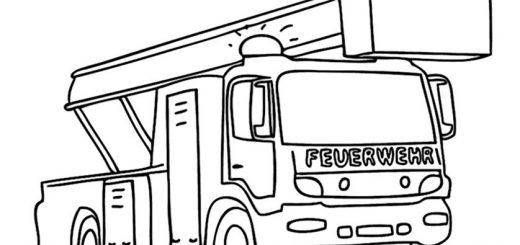 Ausmalbilder Feuerwehrauto 11