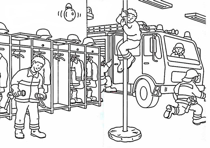 Ausmalbilder Feuerwehr 12