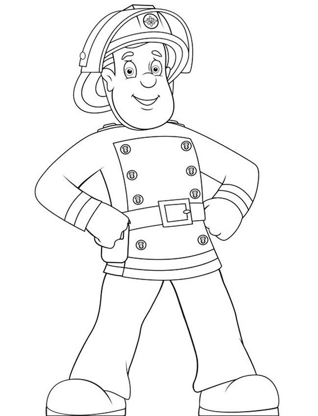 Ausmalbilder Feuerwehrmann Sam 1