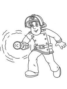 Ausmalbilder Feuerwehrmann Sam 2