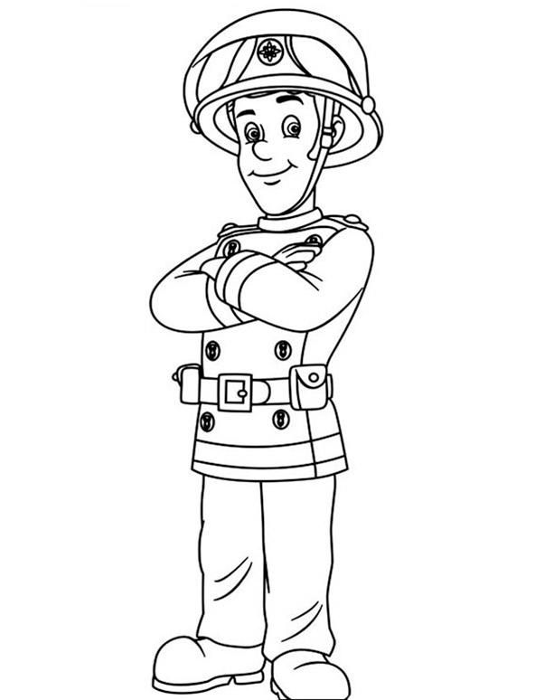 Ausmalbilder Feuerwehrmann Sam 3