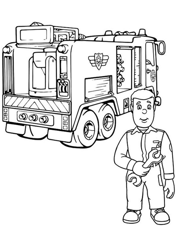 Feuerwehrmann Sam 4 Ausmalen