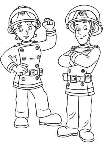 Ausmalbilder Feuerwehrmann Sam 6
