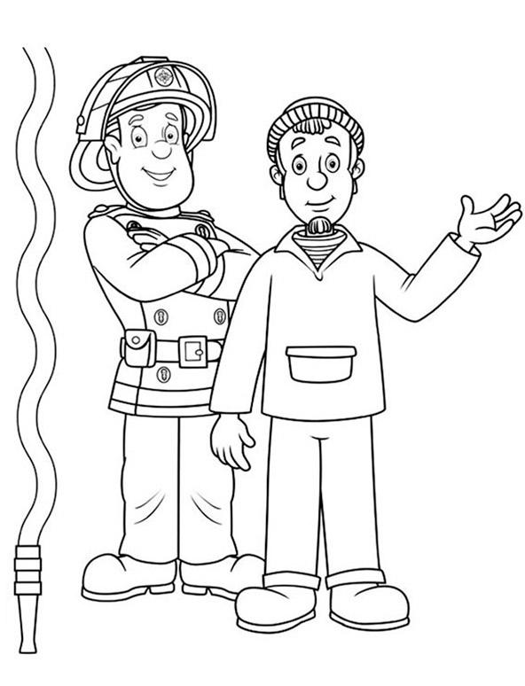 Ausmalbilder Feuerwehrmann Sam 7