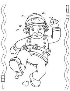 Ausmalbilder Feuerwehrmann Sam 8