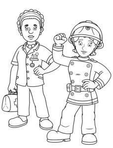 Ausmalbilder Feuerwehrmann Sam 9