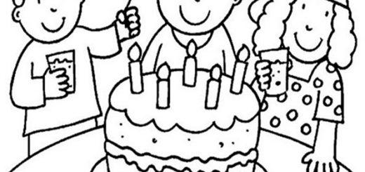 Geburtstag zum ausmalen 6