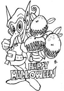 Ausmalen Halloween 16