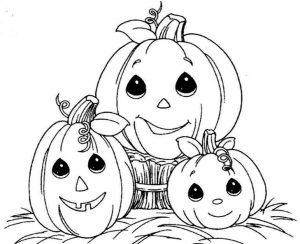 Drei Kürbis Halloween zum ausmalen