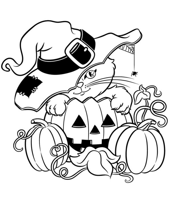 Halloween ausmalbilder. Bild 3