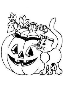 Kürbis Halloween zum ausmalen 7