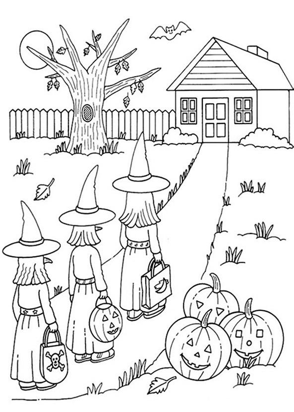 Halloween zum ausmalen 10