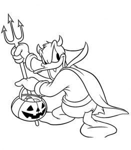 Ausmalbilder Halloween Disney 17