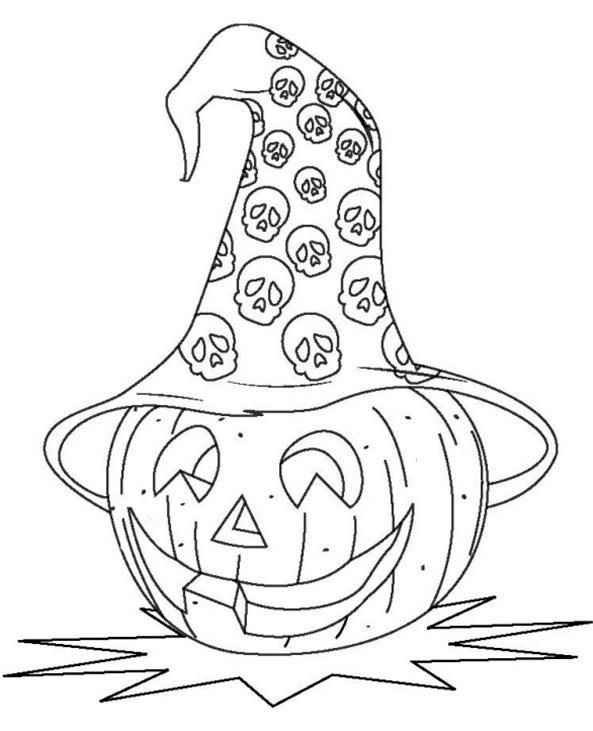 Ausmalbilder Kürbis Halloween 18