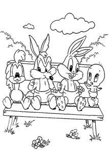 Looney Tunes Baby zum ausmalen 4
