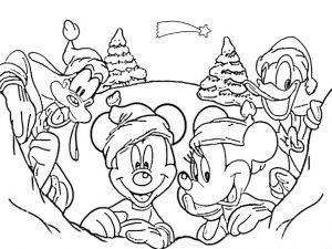 Bilder zum ausmalen Disney weihnachten 5