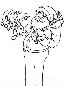 Bilder zum ausmalen Weihnachten. Weihnachtsmann 11