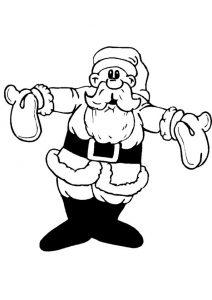 Ausmalbild Weihnachtsmann 15