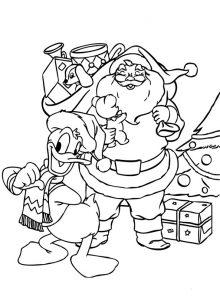 Bilder zum ausmalen Weihnachten. Weihnachtsmann 18