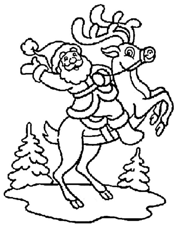 Weihnachtsmann zum ausmalen 20
