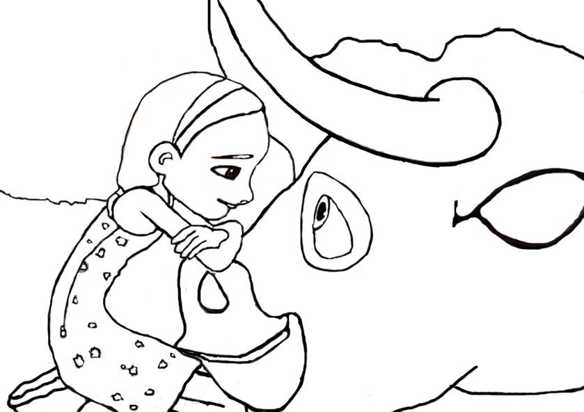 Ausmalbilder Ferdinand und Nina 1