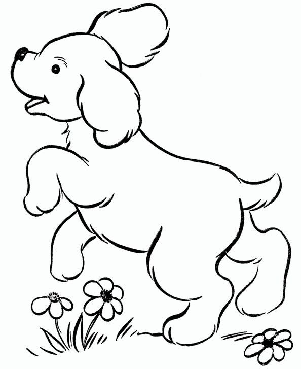 Ausmalbilder Hund 2