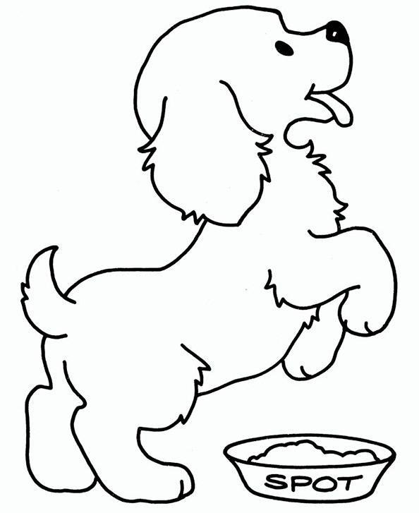 Ausmalbilder Hund 4