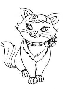 Ausmalbilder Katze 1