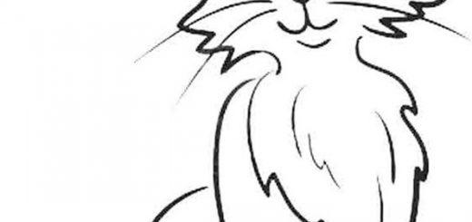 Ausmalbild Katze 2