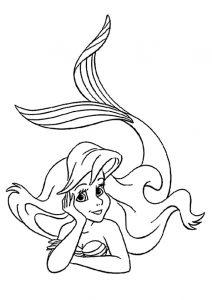 Ausmalbilder Die kleine Meerjungfrau 3