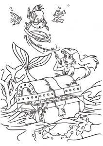 Ausmalbilder Die kleine Meerjungfrau 4