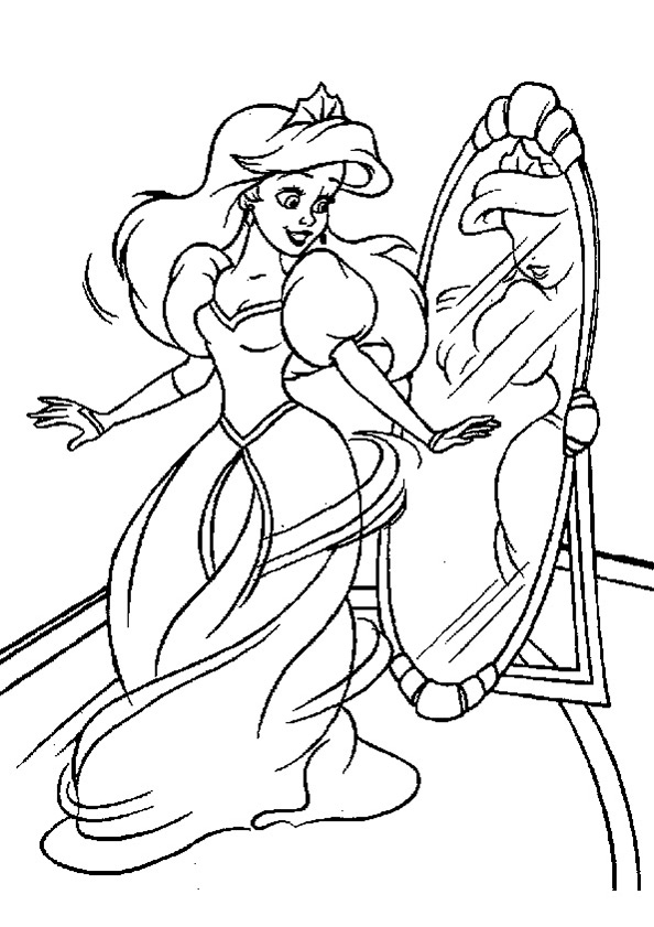 Ausmalbilder Meerjungfrau 7