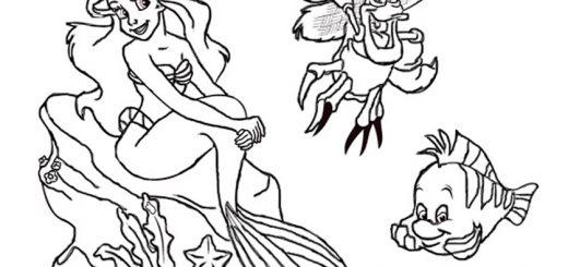Malvorlagen Die kleine Meerjungfrau 8