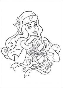 Ausmalbilder Weihnachten Prinzessin. Bild 28