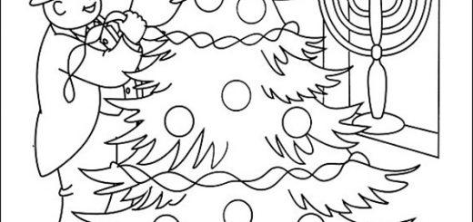 Ausmalbilder Weihnachten Thomas. Bild 29